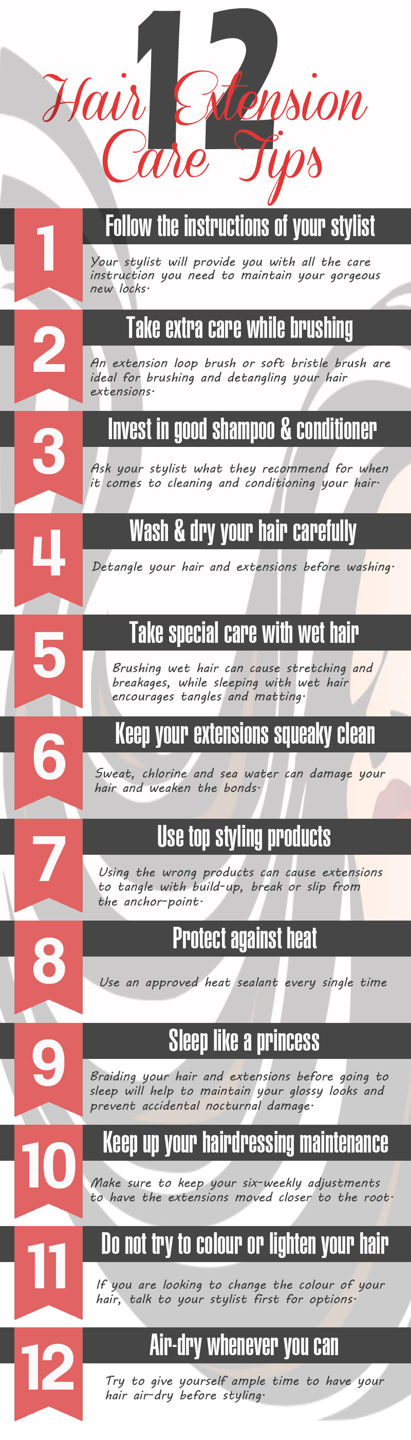 how to take care of your hair extension
