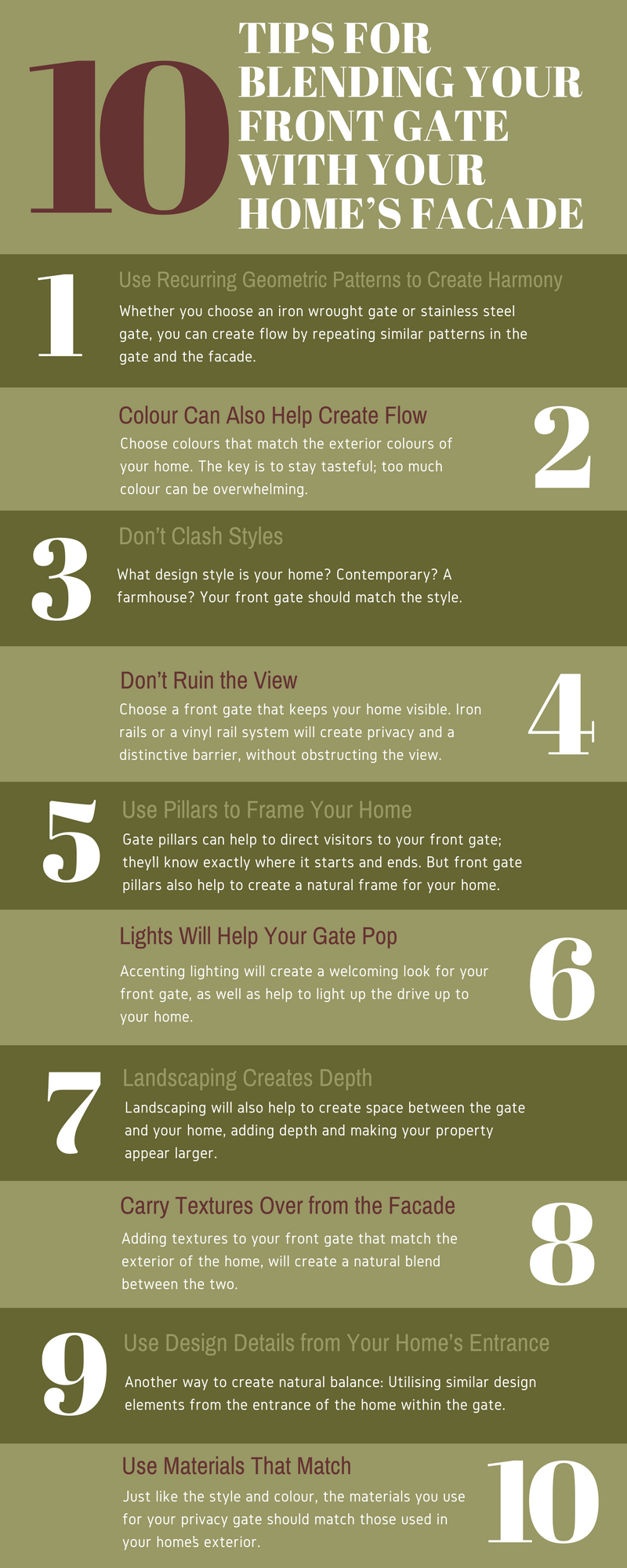 10 Tips to Choose The Front Gate of Your House