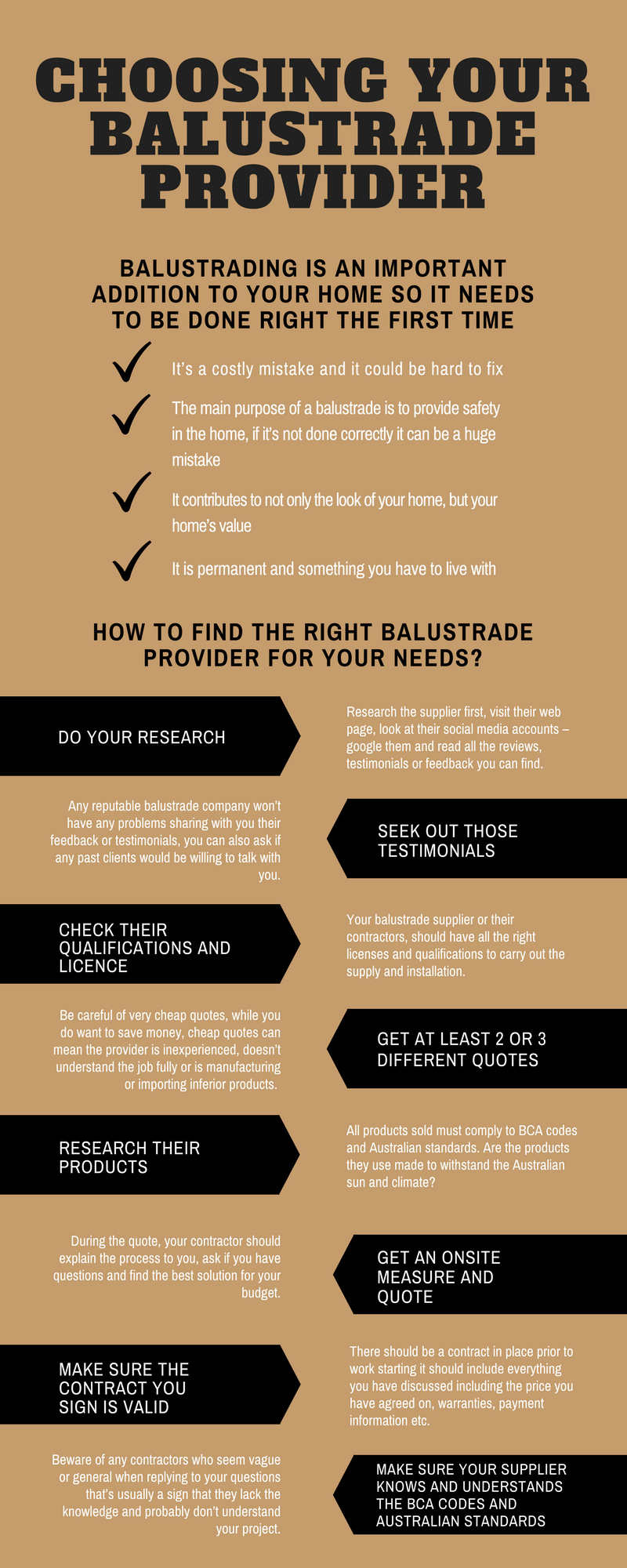 Choosing Your Balustrade Provider