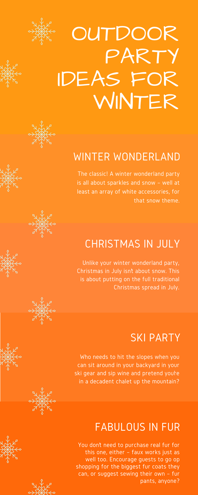 Outdoor Party Ideas for Winter