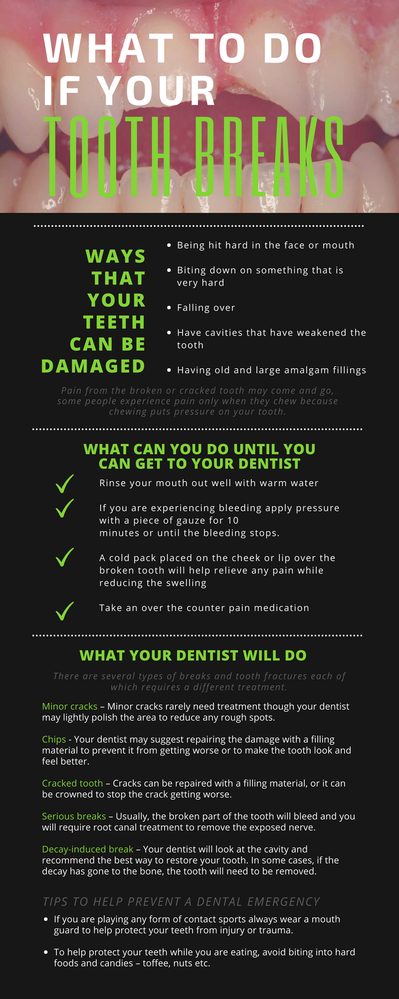 What to Do If Your Tooth Breaks