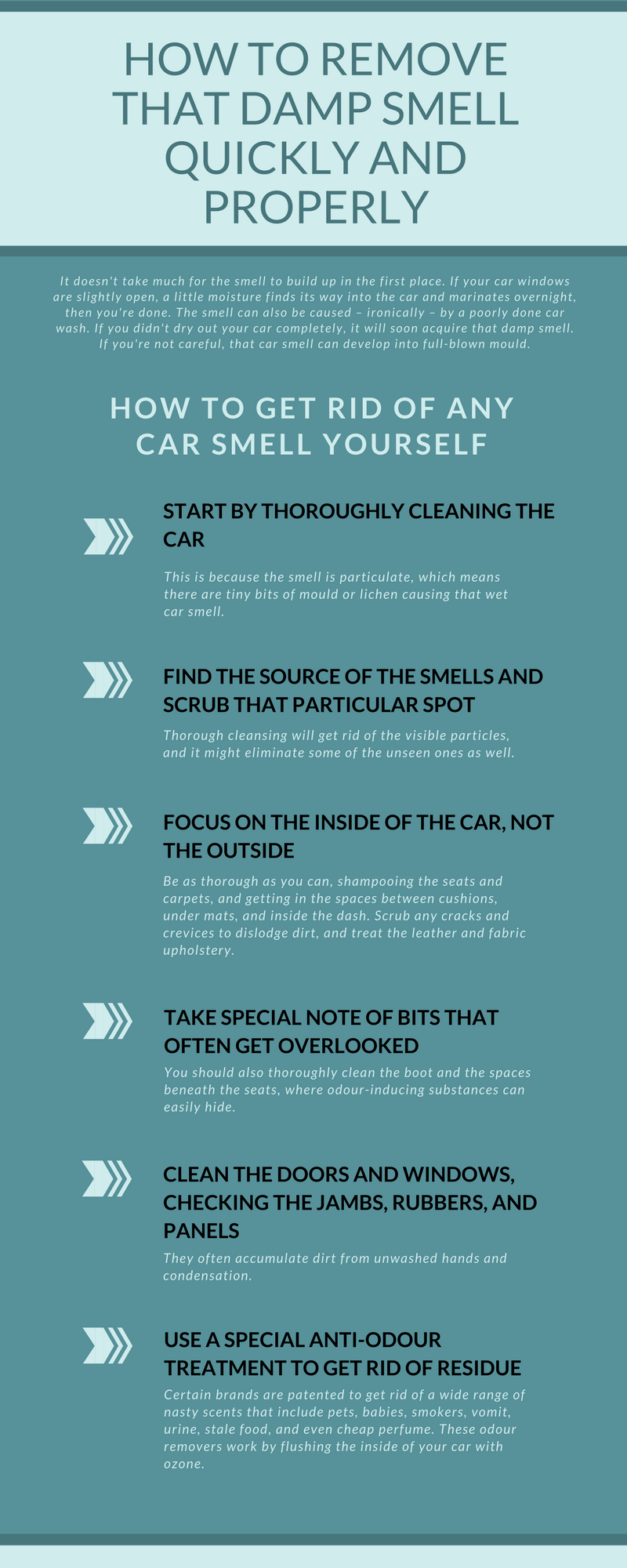 techniques to remove damp smell properly from your car