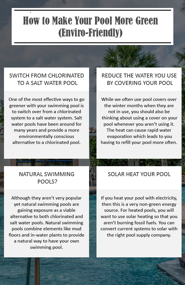 How to Make Your Pool More Green Enviro Friendly