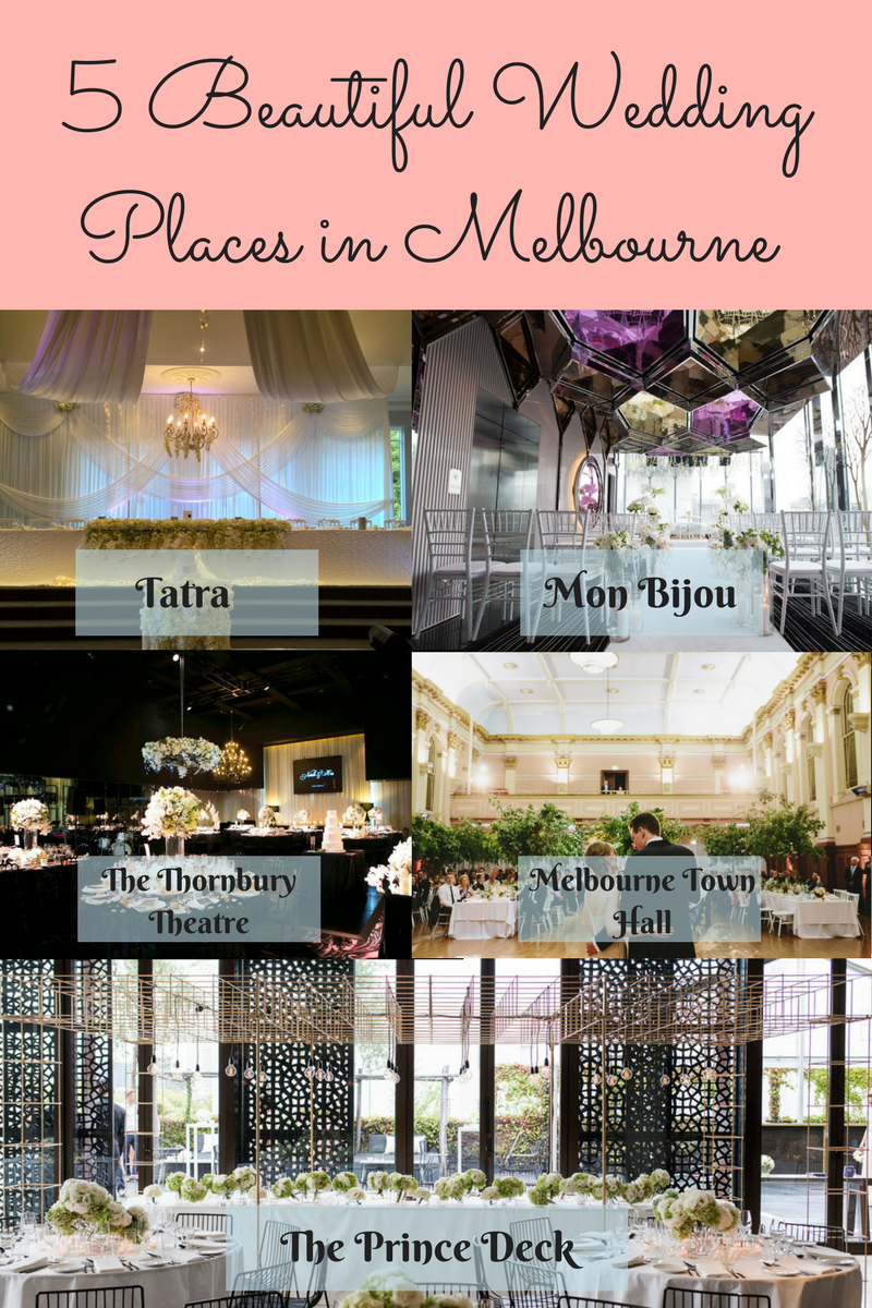 5 Beautiful Wedding Places in Melbourne