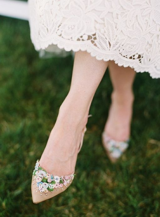 Something Old bridal shoes