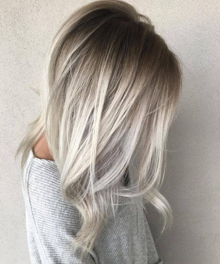 White Blonde with Dark Roots