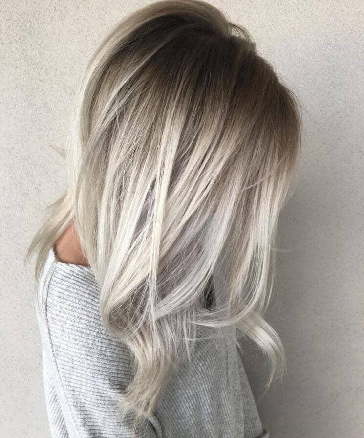 White Blonde with Dark Roots