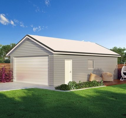 steel frame shed